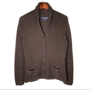BROOKS BROTHERS 100% Merino Wool Cardigan